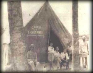 Oficina de Correo después del Terremoto. Tomado de Museo Regional de San Ramón