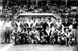 Selección distrital de San Ramón. 1953. Tomado de El Occidente