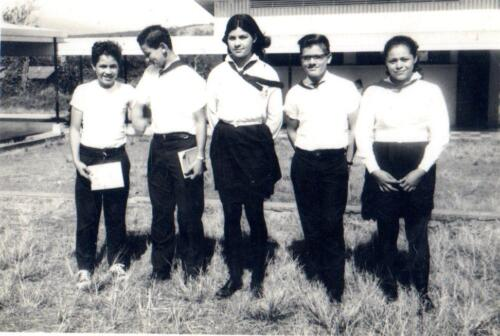 Benita Santamaria ,Carmen Ulate Mario Herrera Trino y compañeros